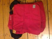 Bababing Red Changing Bag