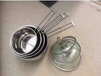 Brabantia Vision High Quality Stainless steel 4 pan set