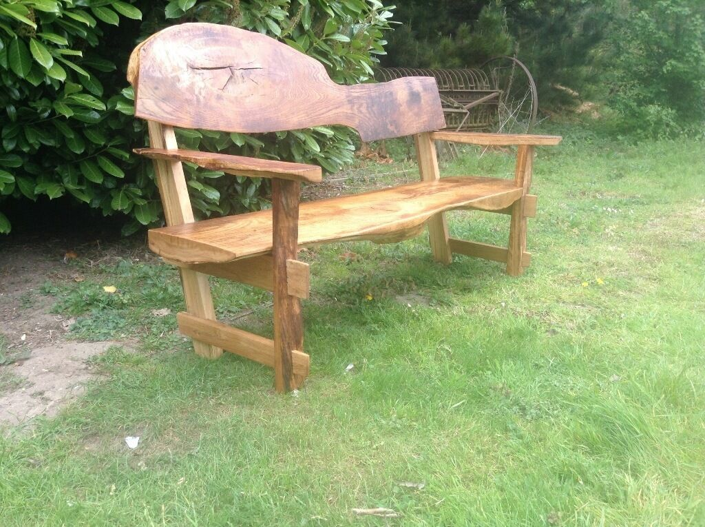rustic garden furniture. New Solid Oak Garden Bench 6ft Long Waney Edge Rustic Furniture Farmhouse