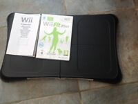 Wii Fit balance board with Wii Fit Plus and manual perfect condition