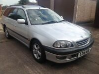 STUNNING TOYOTA AVENSIS ESTATE WITH FULL TOYOTA SERVICE HISTORY AND 12 MONTHS MOT WITH NO ADVISORIES