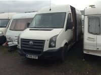 VW CAMPERVAN/ RACEVAN. REAR 2 MOTORBIKE GARAGE. 4 BERTH. GOOD CONDITION. FSH. 6 MTH MOT. SHOWER/HOB.