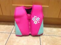 Child's buoyancy aid, pink, good for 18-25 kilos (aged 4ish)