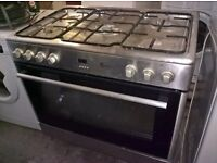 Silver Range Gas cooker dual fuel..90cm...free delivery