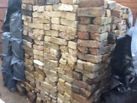Reclaimed bricks yellow and red mixed stocks £1.00 each