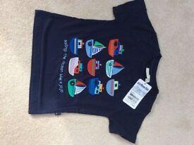Brand new with tags jo jo maman Bebe boys t-shirt