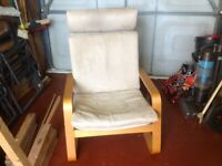 FREE Wooden framed armchair with washable cushion covers