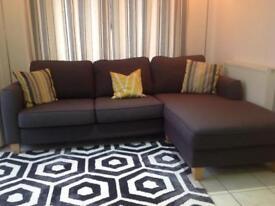 Corner Sofa (Grey Fabric)
