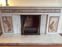 Marble fire surround.
