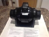 Airvent 100mm Mixed Flow Inline Extractor Fan & Timer (New) with Instructions