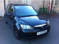 2003 (53) Mazda2 SEMI-AUTOMATIC 1.4 DIESEL LOW MILES LONG MOT £30 A YEAR ROAD TAX SPARES OR REPAIR