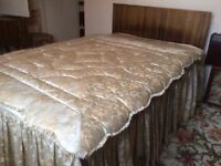 VINTAGE FEATHER EIDERDOWN (BEDSPREAD & CURTAINS AVAILABLE)