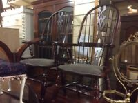 A pair of mahogany Windsor chairs
