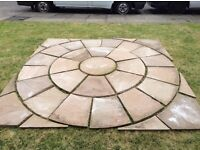 Garden patio circle set