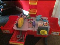 Handy Manny Work Bench and selection of Tools