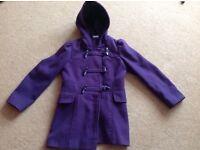 Lovely girls purple winter coat