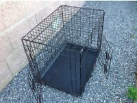 Metal Dog Crate with two doors for puppy dog house training