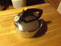 Stainless steel camping kettle 1.4 litre,new,with whistle,☕️☕️☕️
