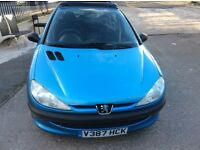 76000 low miles Peugeot 206 1.1 Petrol 5Door Hatchback 2 Owners Full vosa history Mot 27-08-17 £550