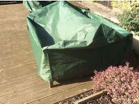 Heavy duty garden bench cover