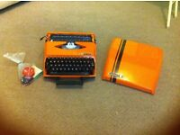 Smith corona ghia typewriter collectable orange