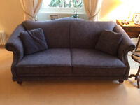 Two 3 seater fabric sofas