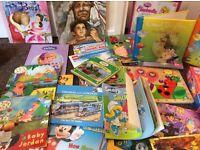 Book bundle and jigsaw (60 plus books)