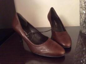Brown court shoes
