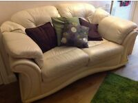 2 & 3 seater leather sofa's
