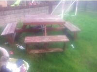 Free garden table and benches