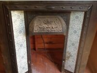 Victorian fireplace from a victorian cottage