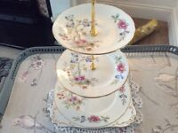 Royal Stafford Bone China 3 Tier Cake Stand.