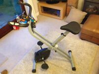 """VFIT MXC1 Folding X Frame Magnetic Exercise Bike in excellent """"like new"""" condition."""