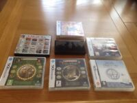 Nintendo ds lite including stylus and charger and various games