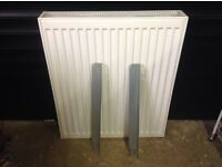 Double panel radiator, 700 by 600, white, used and in good condition