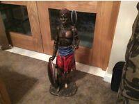 Masai Warrior statue