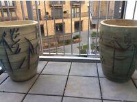 Set of beautiful clay Plant pots
