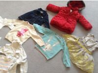 Toddler and baby girls clothing ..approx 80 items v good condition