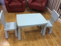 Ikea kids table and2 chairs
