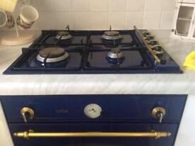 Gas hob electric oven do blue