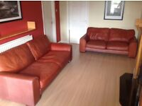 3 and 2 Seater Leather settee's in Chestnut