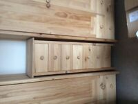 4 Wardrobes and a set of draws for sale