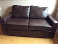 Faux leather 2 seater settee