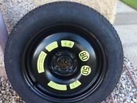 Citroen DS3 space saver tyre