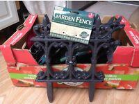 Garden fence edging trim decorative design