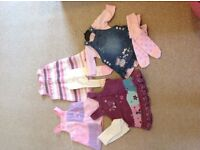 Beautiful baby girls dresses and tights age 0-3 and 3-6 months.