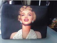Beautiful black Marilyn Monroe bag with sequins