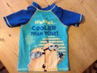 5-6yrs UV sun shirt Minion design