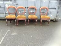 Victorian balloon back chairs,£100.00