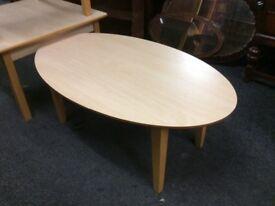 Oval beech coffee tableb
